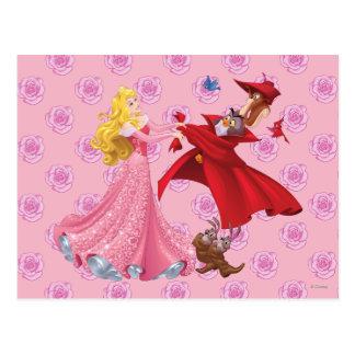 Princesa Aurora y animales del bosque Tarjetas Postales