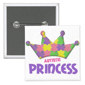 Princesa autística 1 AUTISMO Pin Cuadrado
