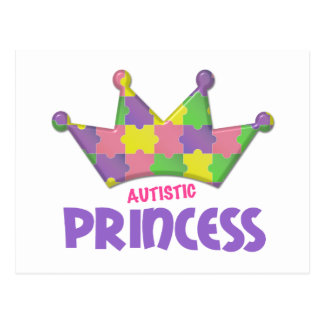 Princesa autística 1 AUTISMO Postales