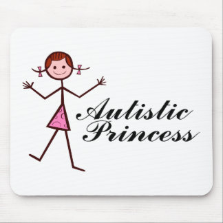Princesa autística (chica) mouse pads