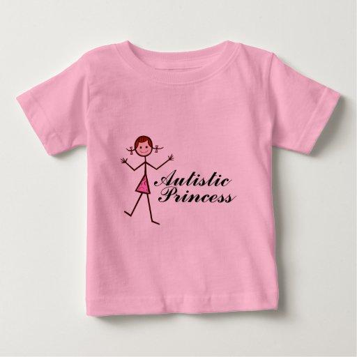 Princesa autística (chica) playera de bebé