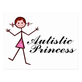 Princesa autística (chica) postal