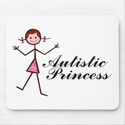 Princesa autística (chica) tapetes de raton
