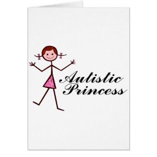 Princesa autística (chica) tarjeta de felicitación