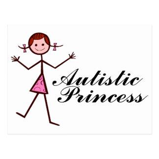Princesa autística (chica) tarjetas postales
