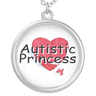 Princesa autística collar plateado