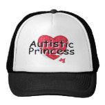 Princesa autística gorros bordados