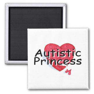 Princesa autística iman de nevera