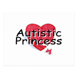 Princesa autística postal