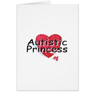 Princesa autística tarjeta de felicitación