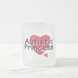 Princesa autística taza de café esmerilada