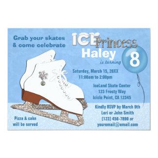 Princesa AZUL del hielo de la invitación del