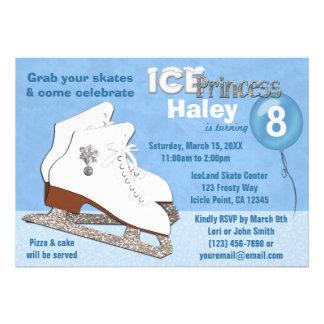 Princesa AZUL del hielo de la invitación del cumpl