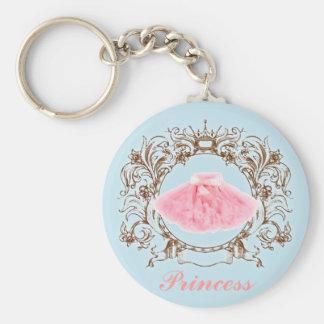 Princesa azul Keychain del tutú del rosa del color Llaveros