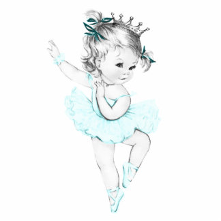Princesa azul niña de la bailarina del trullo del  escultura fotográfica