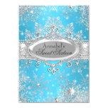 Princesa azul Winter Wonderland Sweet 16 invita Invitacion Personalizada