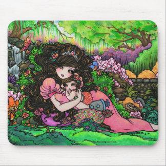 Princesa Baby Fantasy Garden de Hannah Lynn Mousepad