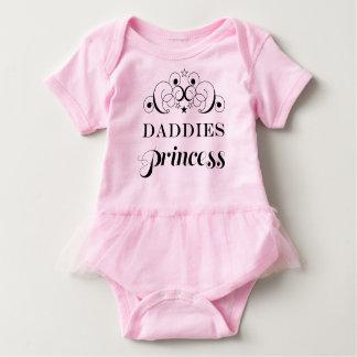 Princesa Baby Tutu Bodysuit Shirt de los papás Remeras