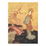 Princesa Badoura, Edmund Dulac del cuento de hadas Invitación 12,7 X 17,8 Cm