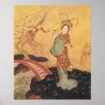 Princesa Badoura, Edmund Dulac del cuento de hadas Posters