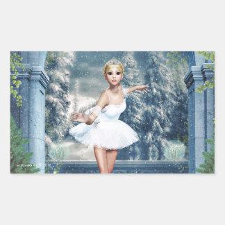 Princesa Ballerina Christmas Sticker de la nieve Rectangular Altavoz