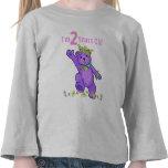 Princesa Bear del cumpleaños de 2 años Camiseta