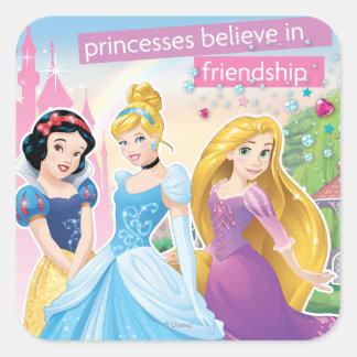 Princesa Believe en la amistad 2 Pegatina Cuadrada