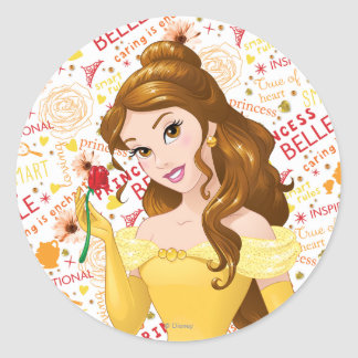 Princesa Belle Pegatina Redonda