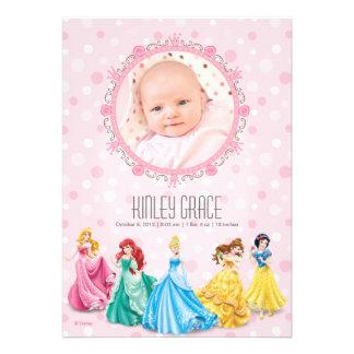 Princesa Birth Announcement de Disney Invitacion Personal