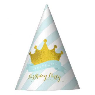 Princesa Birthday de la tiara de la menta y del Gorro De Fiesta