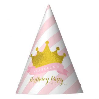 Princesa Birthday de la tiara del oro Gorro De Fiesta