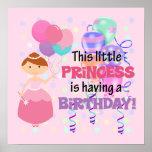 Princesa Birthday de los chicas Posters
