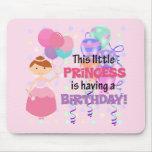 Princesa Birthday de los chicas Tapete De Ratón