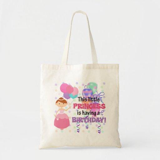 Princesa Birthday de los niños Bolsas De Mano
