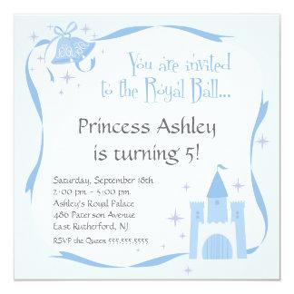 Princesa Birthday Invitation - azul Invitacion Personal