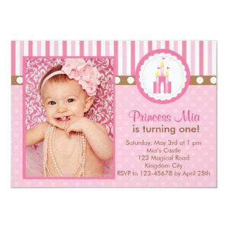 Princesa Birthday Invitation con la foto Invitación 12,7 X 17,8 Cm