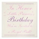 Princesa Birthday Invitation Comunicados Personalizados