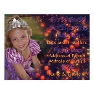 Princesa Birthday Invitations de 3 años Invitacion Personal