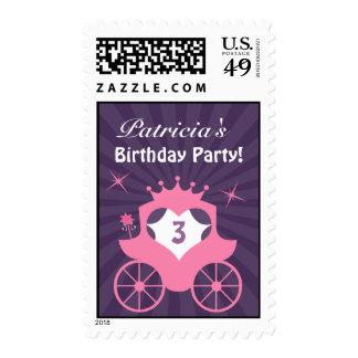 Princesa Birthday Medium Postage Franqueo
