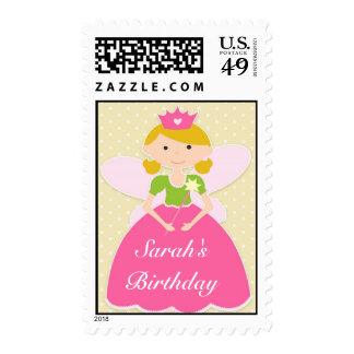 Princesa Birthday Medium Postage Sello