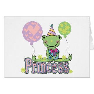 Princesa Birthday Tshirts y regalos de la rana Tarjetas