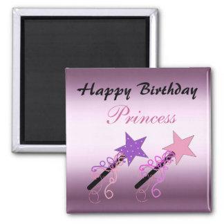Princesa Birthday Wishes Imán Cuadrado