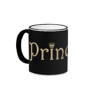 Princesa Black y oro personalizados Taza De Dos Colores