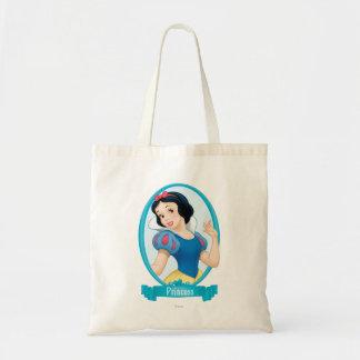 Princesa blanca como la nieve bolsa lienzo