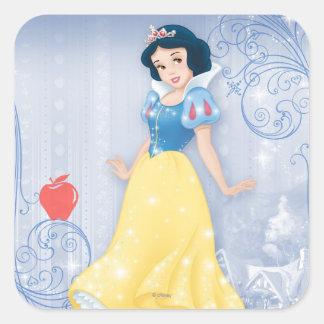 Princesa blanca como la nieve pegatina cuadrada