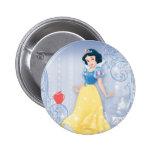 Princesa blanca como la nieve pin redondo de 2 pulgadas
