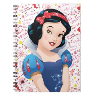 Princesa blanca como la nieve spiral notebook