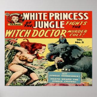 Princesa blanca de la selva - doctor de bruja póster
