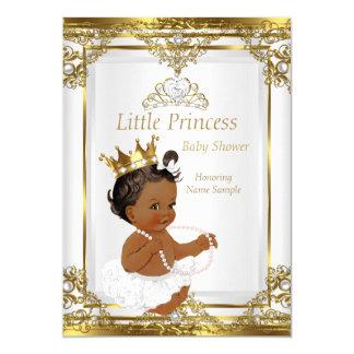 """Princesa blanca fiesta de bienvenida al bebé de la invitación 5"""" x 7"""""""