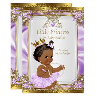 """Princesa blanca fiesta de bienvenida al bebé del invitación 5"""" x 7"""""""